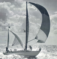 BI40 with spinnaker flying